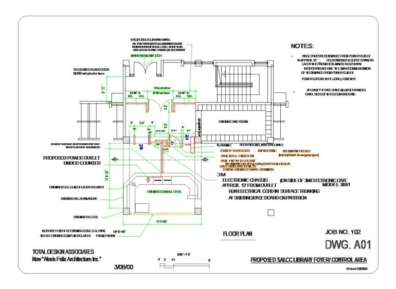 Salcc Library control fl plan 'A'